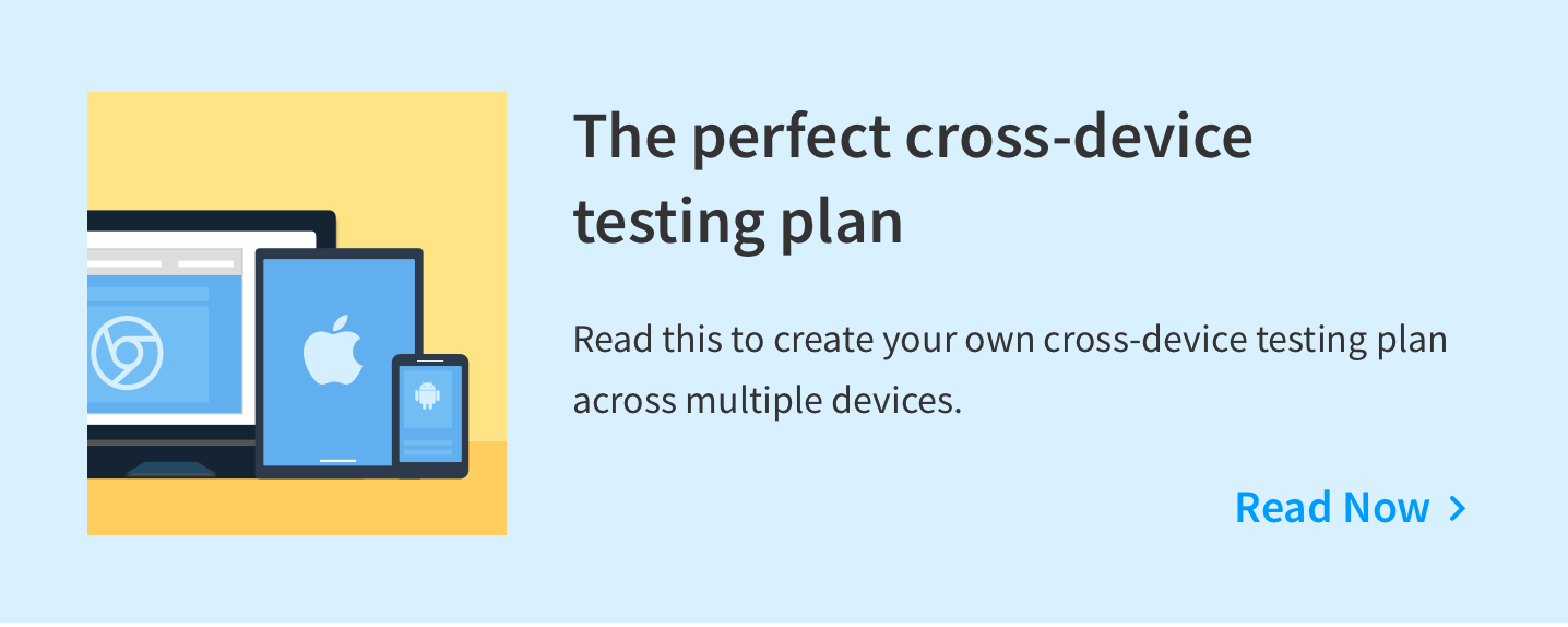 Mobile testing strategy