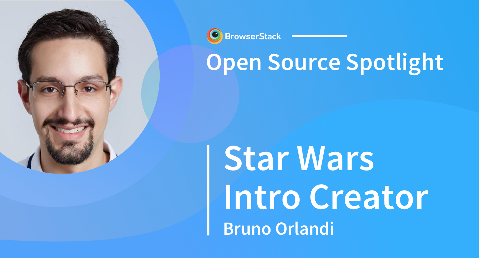 Open Source Spotlight: Star Wars Intro Creator with Bruno Orlandi