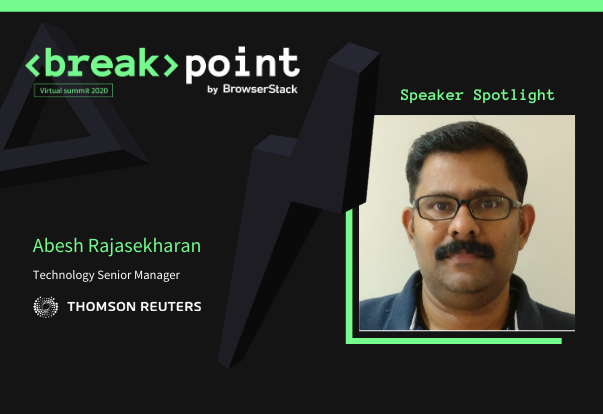 Breakpoint Speaker Spotlight: Abesh Rajasekharan