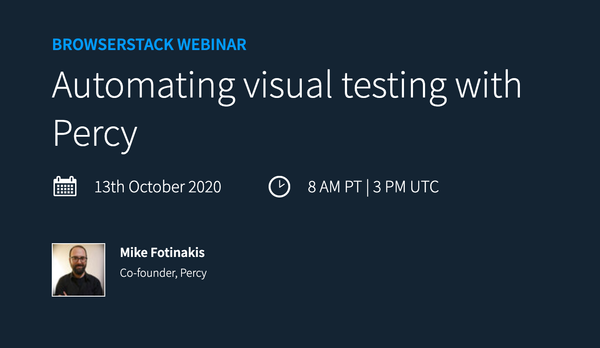 Webinar: Automating visual testing with Percy